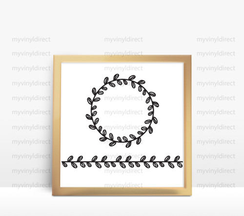 Laurel Wreath & Border Digital Cutting File (#1)