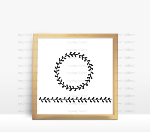 Laurel Wreath & Border Digital Cutting File (#2)