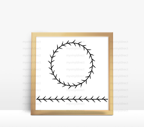 Laurel Wreath & Border Digital Cutting File (#3)