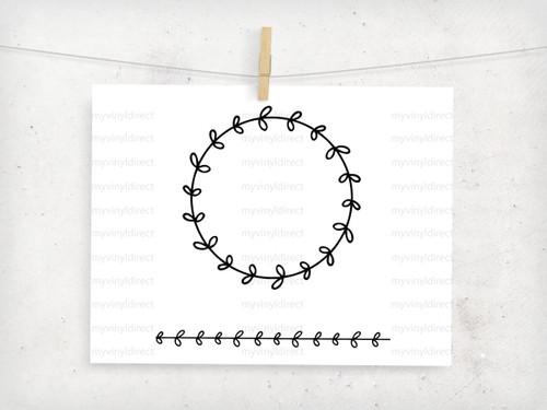 Laurel Wreath & Border Digital Cutting File (#5)