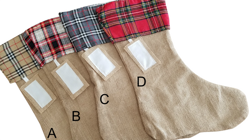 Plaid Cuff Christmas Stocking Choices/Styles