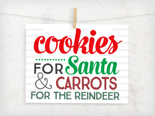 Cookies For Santa Digital Cutting File