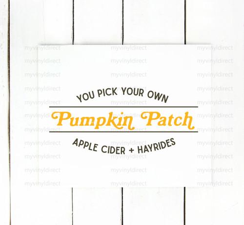 Pumpkin Patch You Pick Digital Cutting File