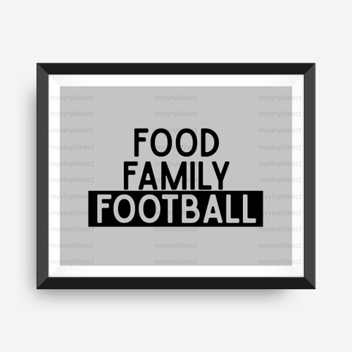 Food Family Football Digital Cutting File