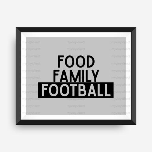 Food Family Football Digital Cutting File