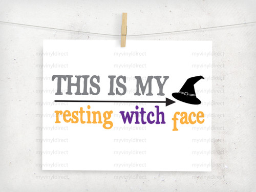 Resting Witch Face Digital Cutting File