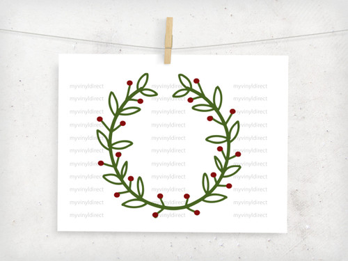 Christmas Berry Wreath Digital Cutting File
