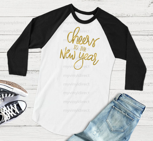 Cheers To The New Year HEAT PRESS TRANSFER