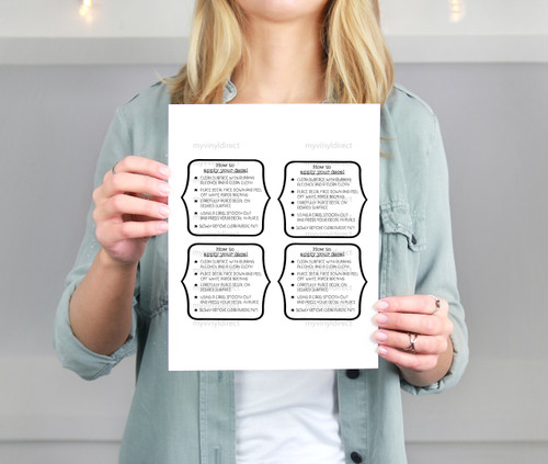 Decal Application Instructions Printable File