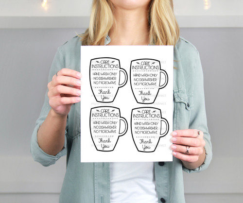 Mug Care Instructions Printable File