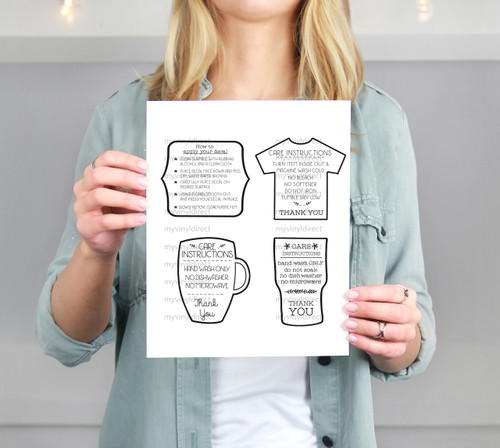 Application & Care Instructions Printable Files (4pk)