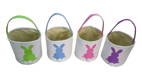 Cotton Tail Bunny Easter Bucket
