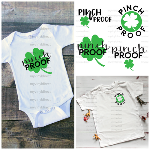 Pinch Proof 4pk HEAT PRESS TRANSFERS