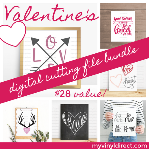 Valentine's Digital Cutting File Bundle