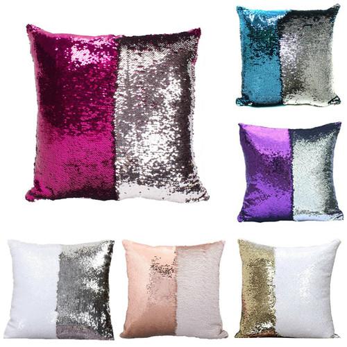 Sequin Mermaid Pillow Cover