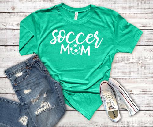Soccer Mom HEAT PRESS TRANSFER