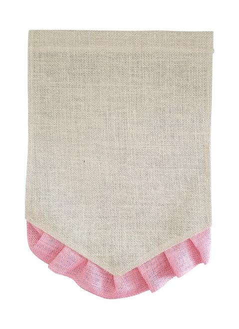 Ruffle Pennant Garden Flag: Pink