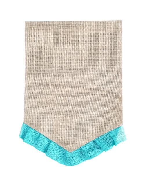 Ruffle Pennant Garden Flag: Blue
