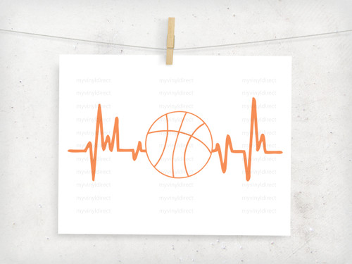 Basketball Heartbeat Digital Cutting File