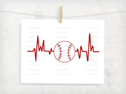 Baseball Heartbeat Digital Cutting File