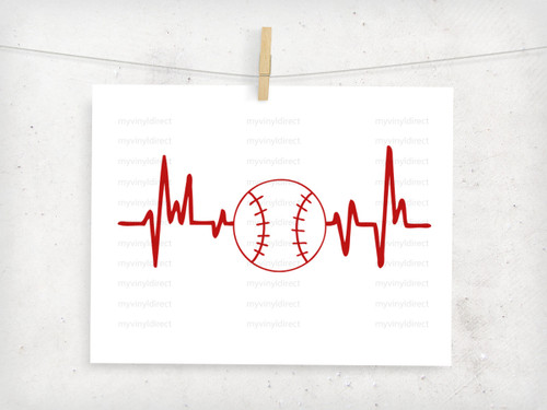 Baseball Heartbeat Digital Cutting File