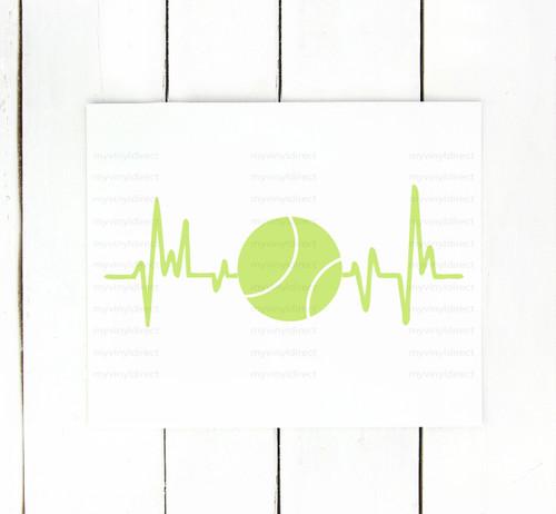 Tennis Heartbeat Digital Cutting File