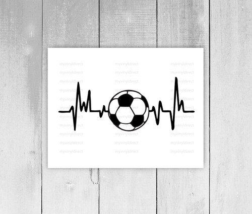 Soccer Heartbeat Digital Cutting File