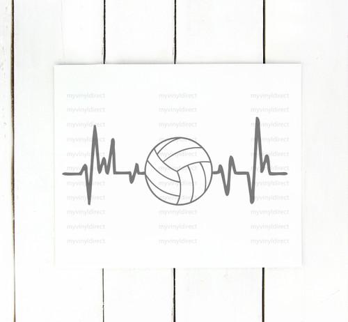 Volleyball Heartbeat Digital Cutting File