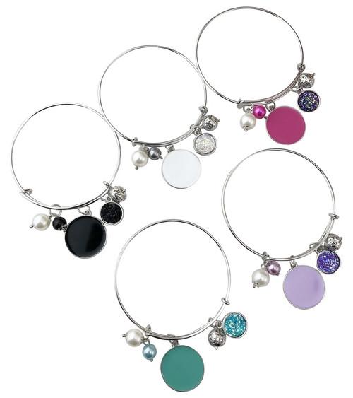 Druzy Enamel Disc Bracelet