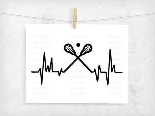 Lacrosse Heartbeat Digital Cutting File