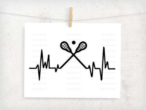 Lacrosse Heartbeat Digital Cutting File
