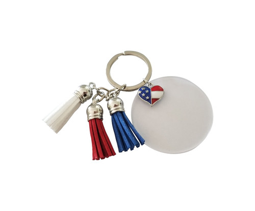 Red White & Blue Tassel Key Chain