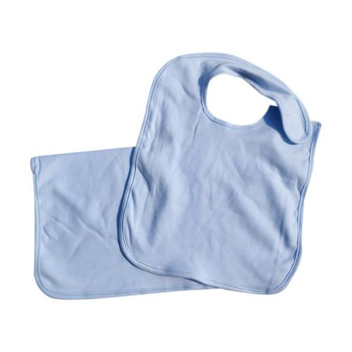 Bib & Burp Cloth Set: Blue