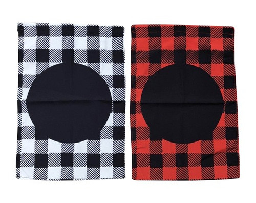 Circle with Buffalo Check Garden Flag