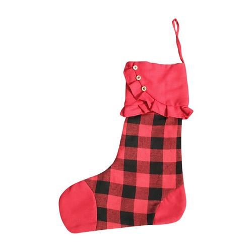 Red Plaid Stocking