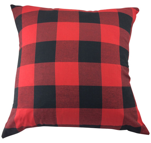 Red & Black Buffalo Check Pillow Cover