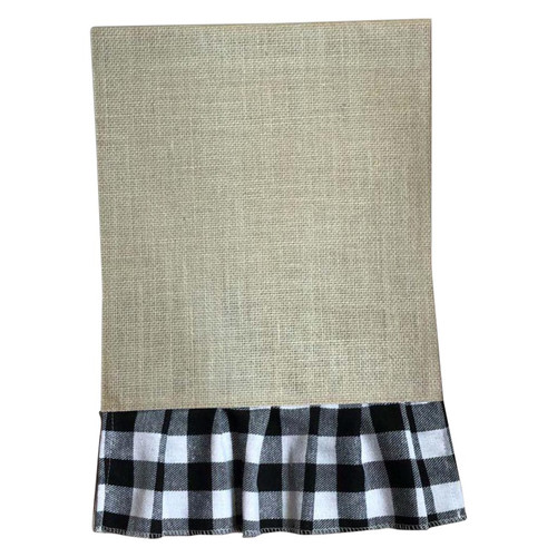 White Buffalo Check Pleated Garden Flag