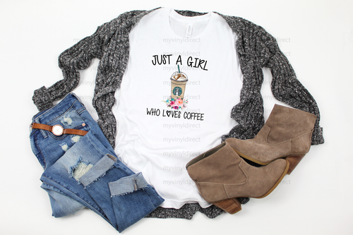 Just A Girl Who Loves Coffee | Sublimation Transfer