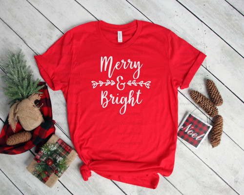 Merry & Bright | Screen Print Transfer
