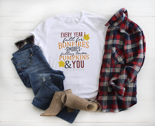Every Year I Fall For You | Sublimation Transfer