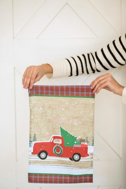 Christmas Truck Garden Flag