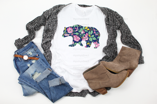 Floral Bear | Sublimation Transfer