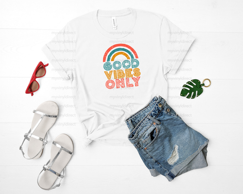 Vintage Good Vibes Only | Sublimation Transfer