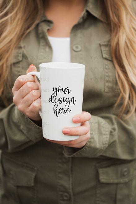 Coffee Mug 'Latte Style' Mock Up