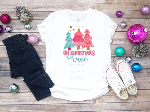 Pink O Christmas Tree | Sublimation Transfer