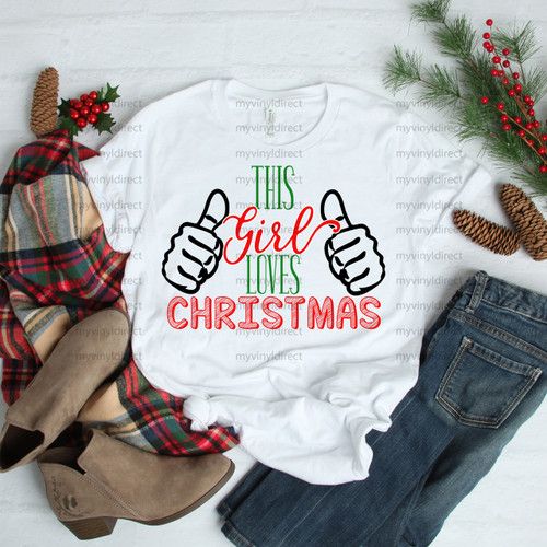This Girl Loves Christmas | Sublimation Transfer