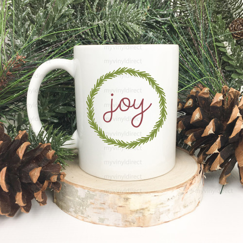 Joy Green Wreath | Sublimation Transfer