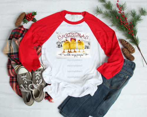 Christmas with my Peeps | Sublimation Transfer