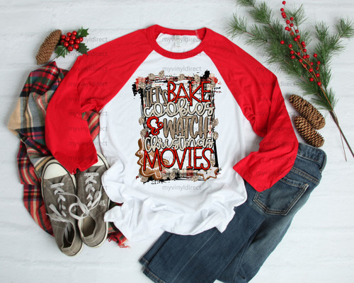Gold Let's Bake Cookies & Watch Christmas Movies | Sublimation Transfer