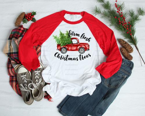 Farm Fresh Christmas Trees in Truck | Cotton Transfer